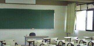 sala de aula sem aluno
