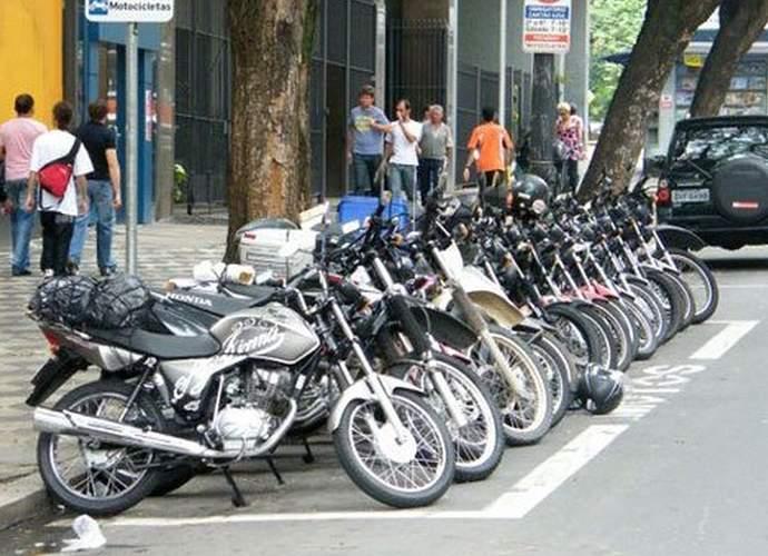 moto área azul