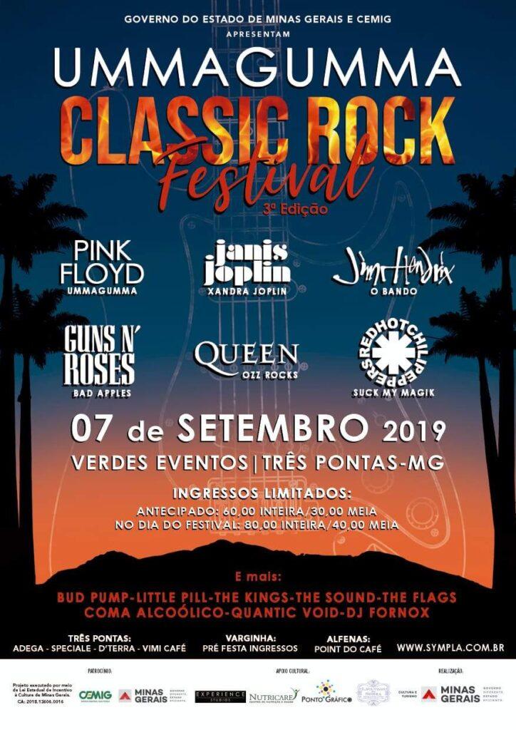 Cartaz Ummagumma Classic Rock Festival Três Pontas 2019
