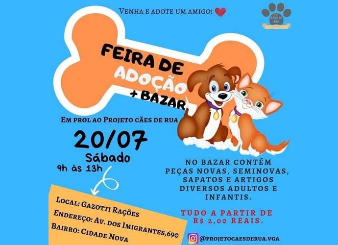 projeto cães de rua varginha bazar