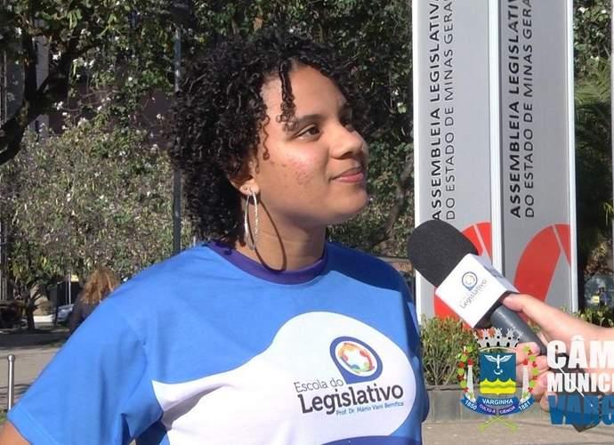 estudante Ana Luiza Silva Rosa