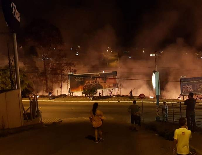 Incêndio no bairro Boa Vista