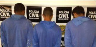 Homens presos por roubo