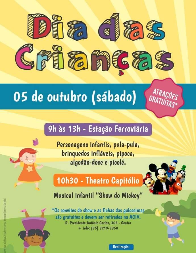 cartaz dia das crianças varginha