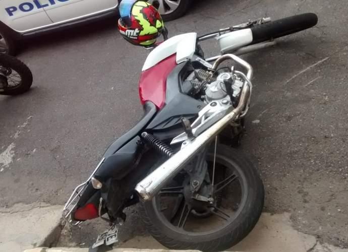 moto caida em varginha