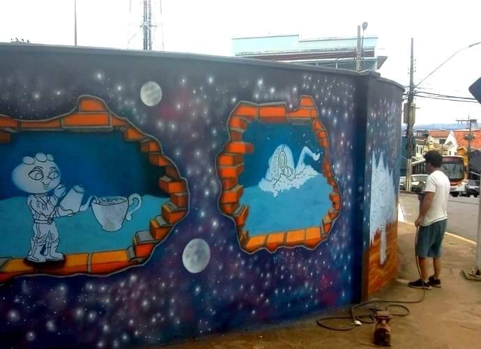pintura em pontos turísticos de varginha