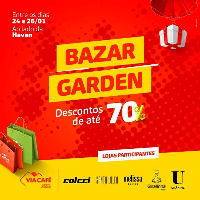 bazar no via café garden shopping varginha