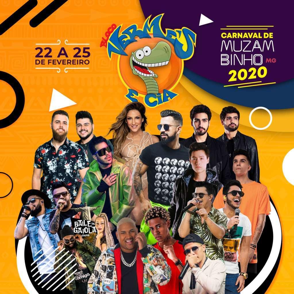 carnaval muzambinho 2020 bloco vermes e cia