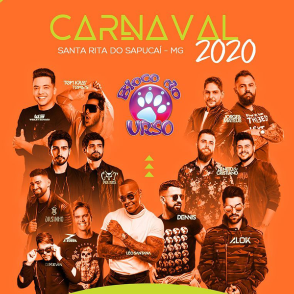 Carnaval 2020 Santa Rita do Sapucaí Bloco do Urso
