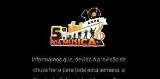 5 da boa musica cancelada