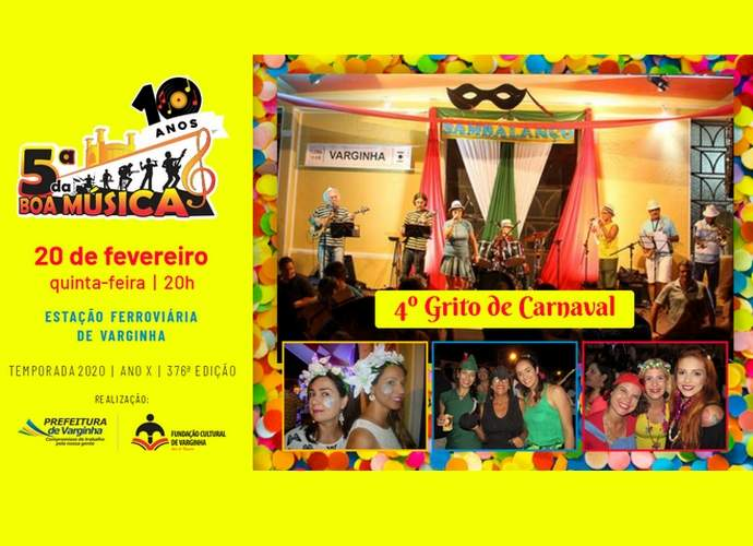 carnaval 2020 varginha 5ª da boa música