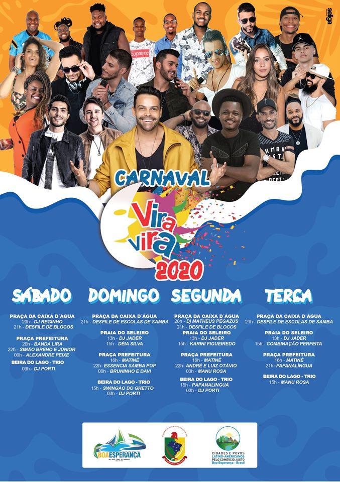 carnaval boa esperança 2020 programação