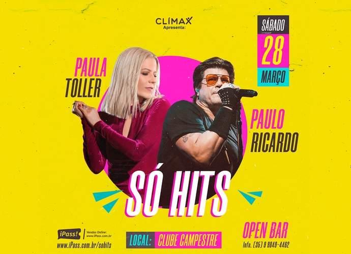 so hits Paula Toller e Paulo Ricardo em Varginha