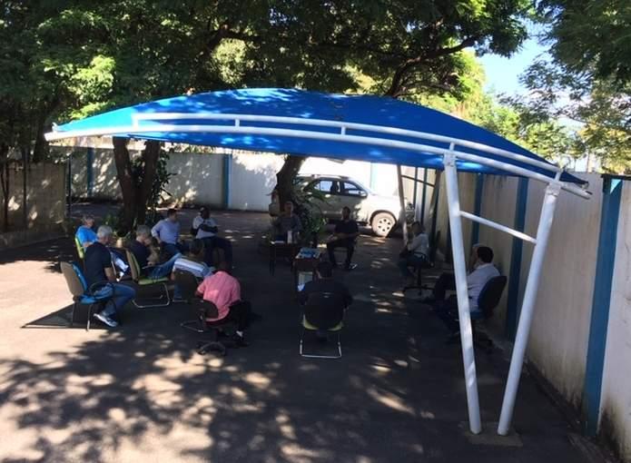 reunião ao ar livre prefeitura de varginha