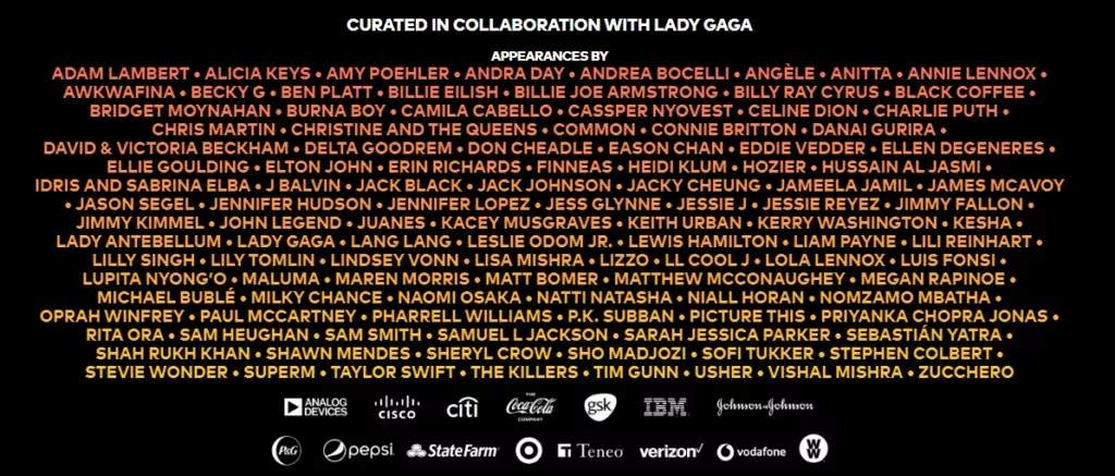 Set-list Festival One World