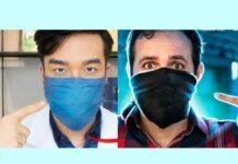 máscara caseira