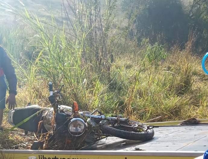 Motociclista sem habilitação
