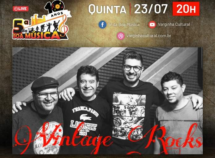 live 5ª da Boa Música Vintage Rocks