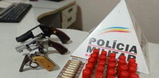 armas de fogo apreendidas