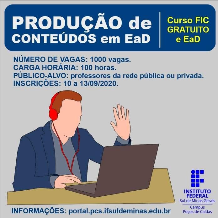 Ifsuldeminas curso produção de conteúdos EAD