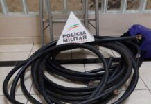cabos de cobre