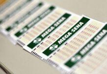 Cartão de aposta da Mega-Sena
