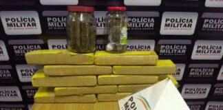 Drogas apreendidas em Varginha