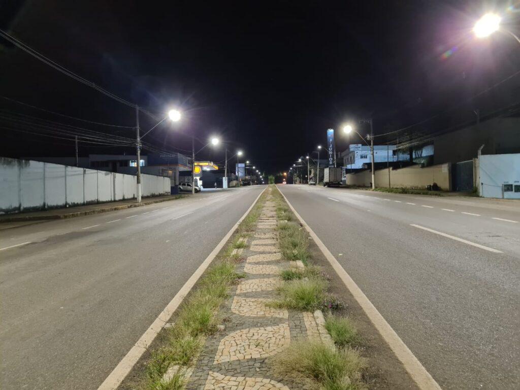 Iluminação LED Avenida Princesa do Sul Varginha