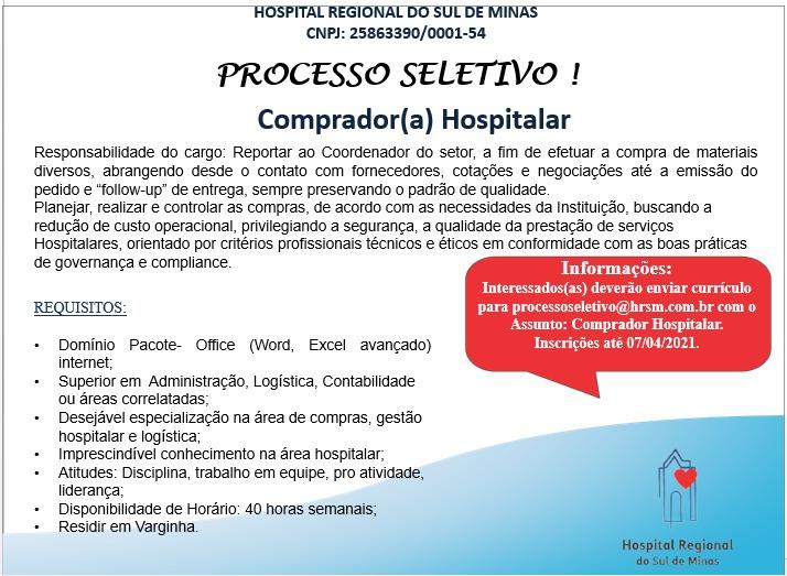 vaga de emprego hospital regional varginha