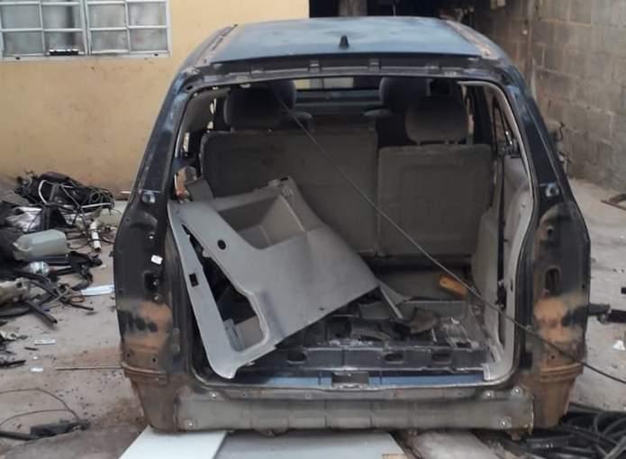 veículo furtado desmontado