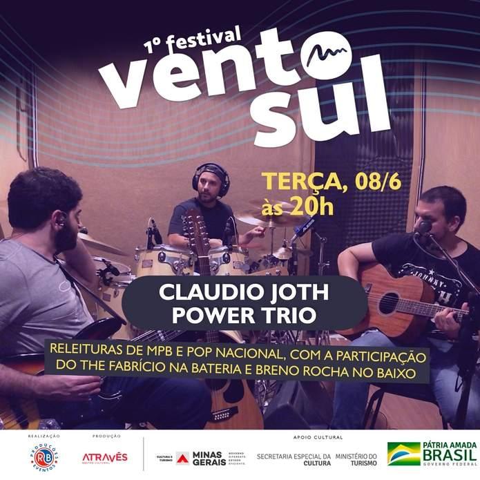 Claudio Joth Power Trio Festival Vento Sul